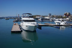 Seaport of Sochi. On a bright Sunny day Royalty Free Stock Images