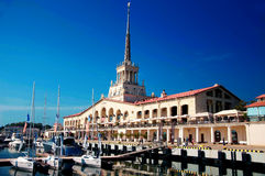 Seaport in Sochi. Russia Stock Images