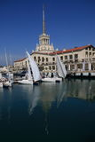 Seaport of Sochi stock images