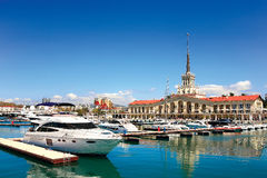 Seaport of Sochi Royalty Free Stock Images
