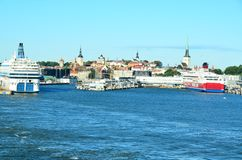 The seaport of Tallinn is the international water gate of the ca stock image