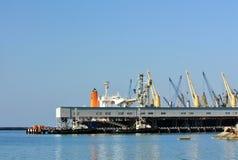 Seaport terminal Stock Photos