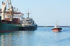 Seaport terminal Royalty Free Stock Photo