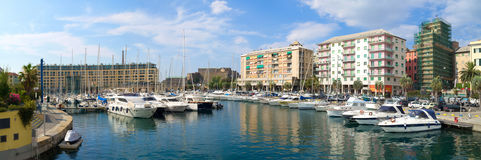 Seaport at Via Antonio Gramsci. Savona.Italiya Stock Photography