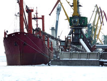 seaport in the winter Stock Photography