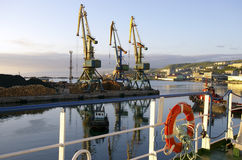 Seaports evening Royalty Free Stock Photo
