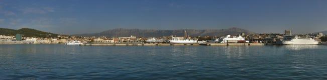 seaportsplit arkivbilder