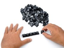 Search. Spreading of computer keys with white background Stock Photos