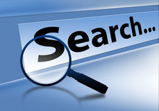 Search. Ing  browser on technology background Royalty Free Stock Image