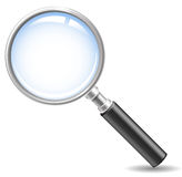Search. Realistic vector magnifying glass, no mesh Stock Images