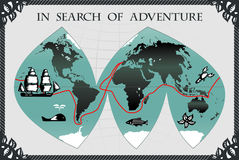 In search of adventure vector illustration