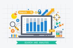 Search and analysis Stock Image