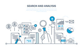 Search and analysis of information, communication, services, marketing, research. Search and analysis of information, communication and services, marketing and Royalty Free Stock Photography