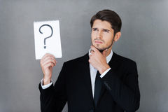 In search of answer. Royalty Free Stock Image