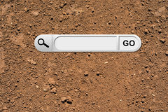 Search bar in browser Royalty Free Stock Photos