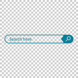 Search bar field. Vector interface element with search button. F Royalty Free Stock Photo