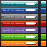 Search Bar Menu Set Stock Photo