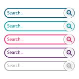Search bar, set of search vector illustration
