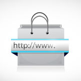 Search bar and shopping bag illustration Stock Images