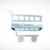 Search bar and shopping cart illustration Royalty Free Stock Photos