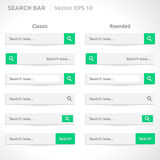 Search bar template Royalty Free Stock Images