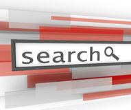 Search Bar - Website Magnifying Glass Royalty Free Stock Photography