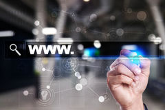 Search bar with www text. Web site, URL. Business, internet, technology concept. Stock Image