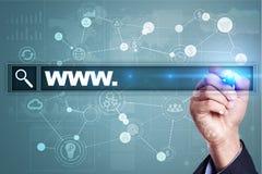 Search bar with www text. Web site, URL. Digital marketing. Stock Photos
