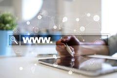 Search bar with www text. Web site, URL. Digital marketing. Royalty Free Stock Photo