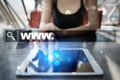 Search bar with www text. Web site, URL. Digital marketing. technology concept. Stock Photos
