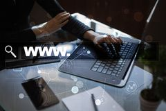 Search bar with www text. Web site, URL. Digital marketing. technology concept. Stock Photography