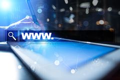 Search bar with www text. Web site, URL. Digital marketing. technology concept. Royalty Free Stock Image