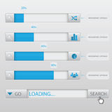 Search Box Loading Infographic Royalty Free Stock Images