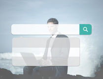 Search Box Technology Internet Browse Browsing Online Concept.  Stock Photography