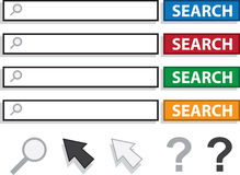 Search Boxes Royalty Free Stock Photos