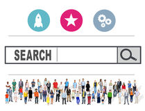 Search Browsing Web Internet Information Online Concept Royalty Free Stock Image