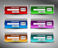 Search button on gray background Royalty Free Stock Photos