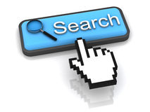 Search button with magnifying glass Royalty Free Stock Photos