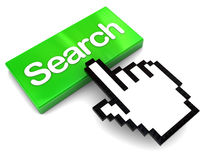 Search button push Stock Image