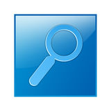 Search button, search web button. Help, binocular, button, help, icon, illustration Stock Photography