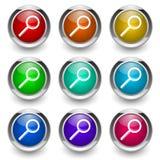 Search button set Royalty Free Stock Photos