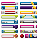 Search buttons and icons for the web Royalty Free Stock Photo