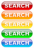 Search buttons set Royalty Free Stock Images