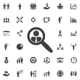 Search candidate Icon. royalty free illustration