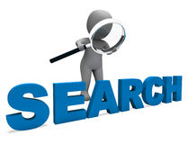 Search Character Shows Internet Find And Online Research. Search Character Showing Internet Find And Online Research Stock Photography