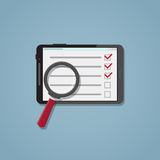 Search checklist on the tablet Stock Photography