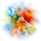 In Search of Color Splash Explosion royalty free illustration
