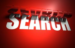 Search concept, cut out in background Royalty Free Stock Image