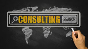 Search for consulting concept Stock Image
