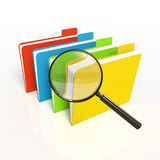 Search of data. Isolated 3D. Search of data. Color. Isolated 3D Royalty Free Stock Image